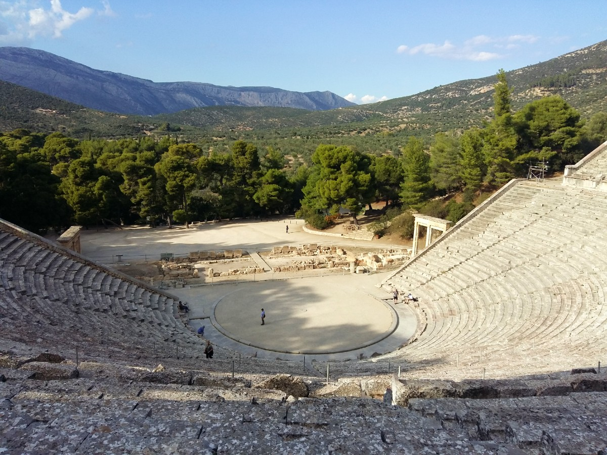 View of the theatre in Ancient Epidaurus