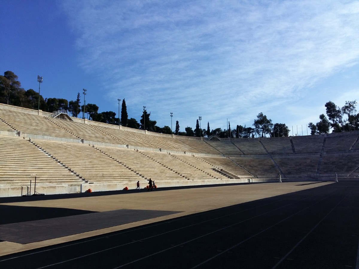 The marble seats in the Panathenaic Stadium