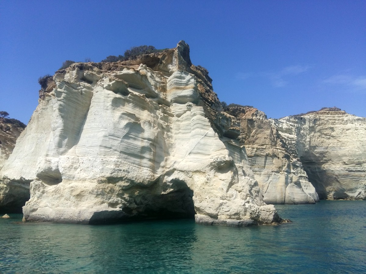 Kleftiko beach in Milos with no wind