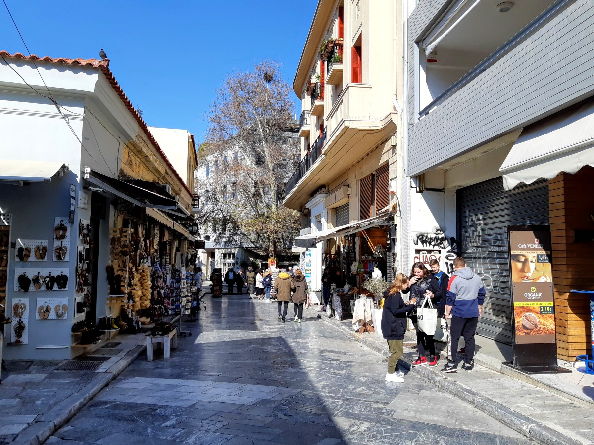 A street in Plaka Athens