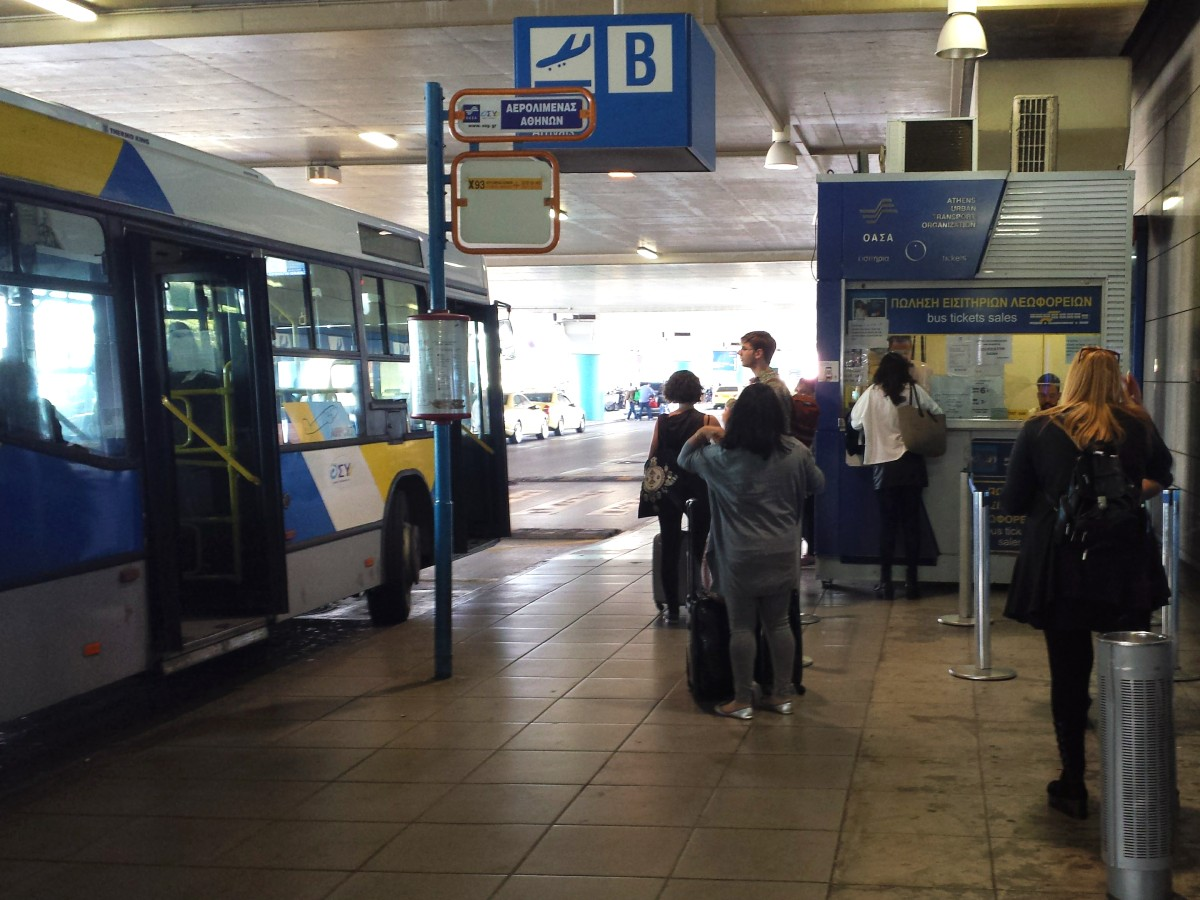 Where to get your bus ticket at Athens airport