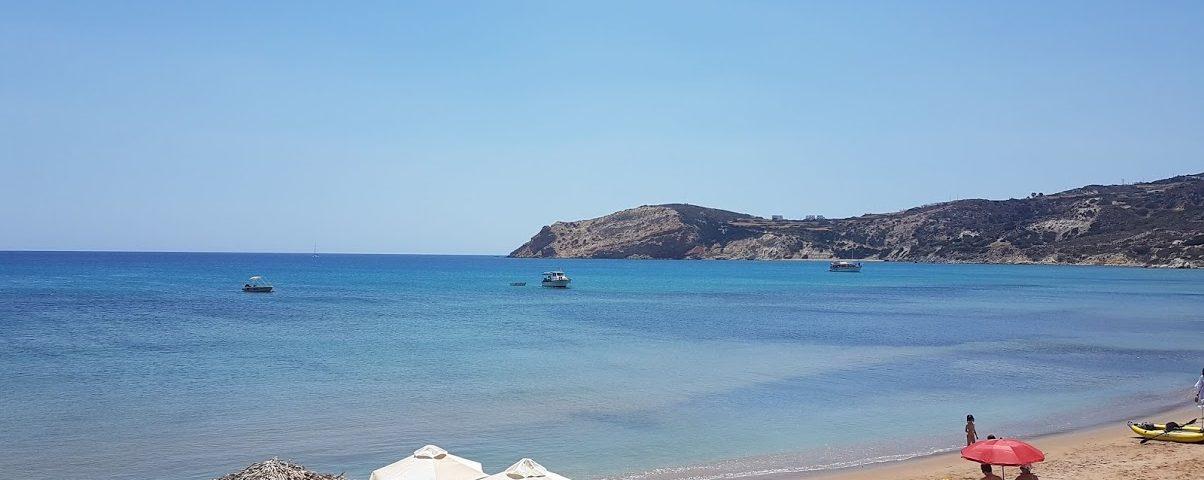 Windy beaches in Greece