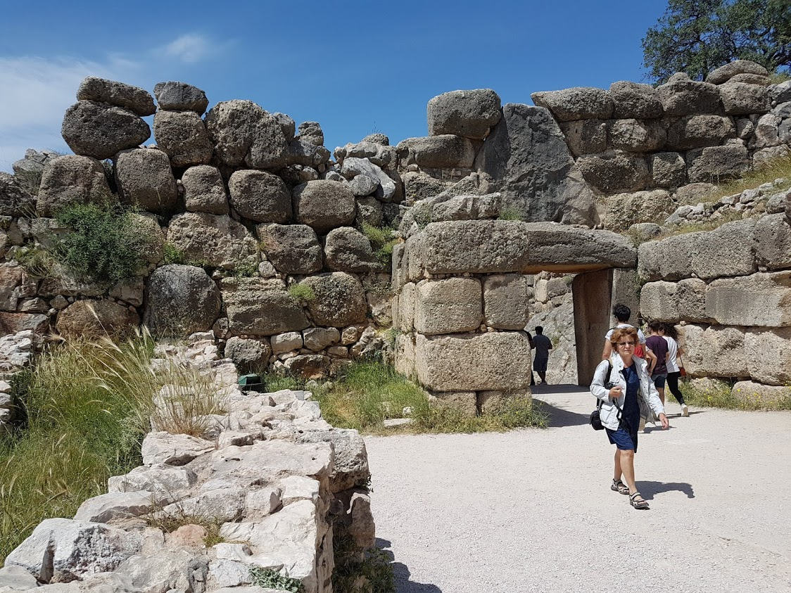 Inside the fort of Mycenae in Greece