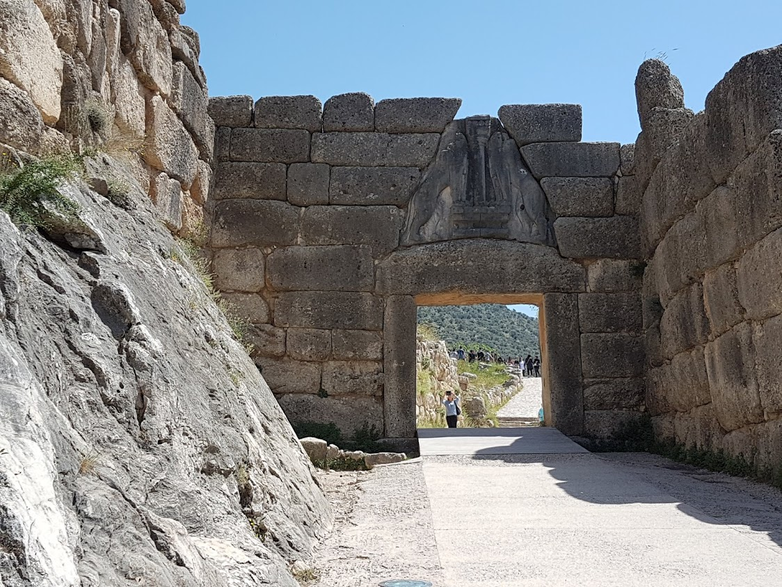 The Lion's Gate of Mycenae in Greece