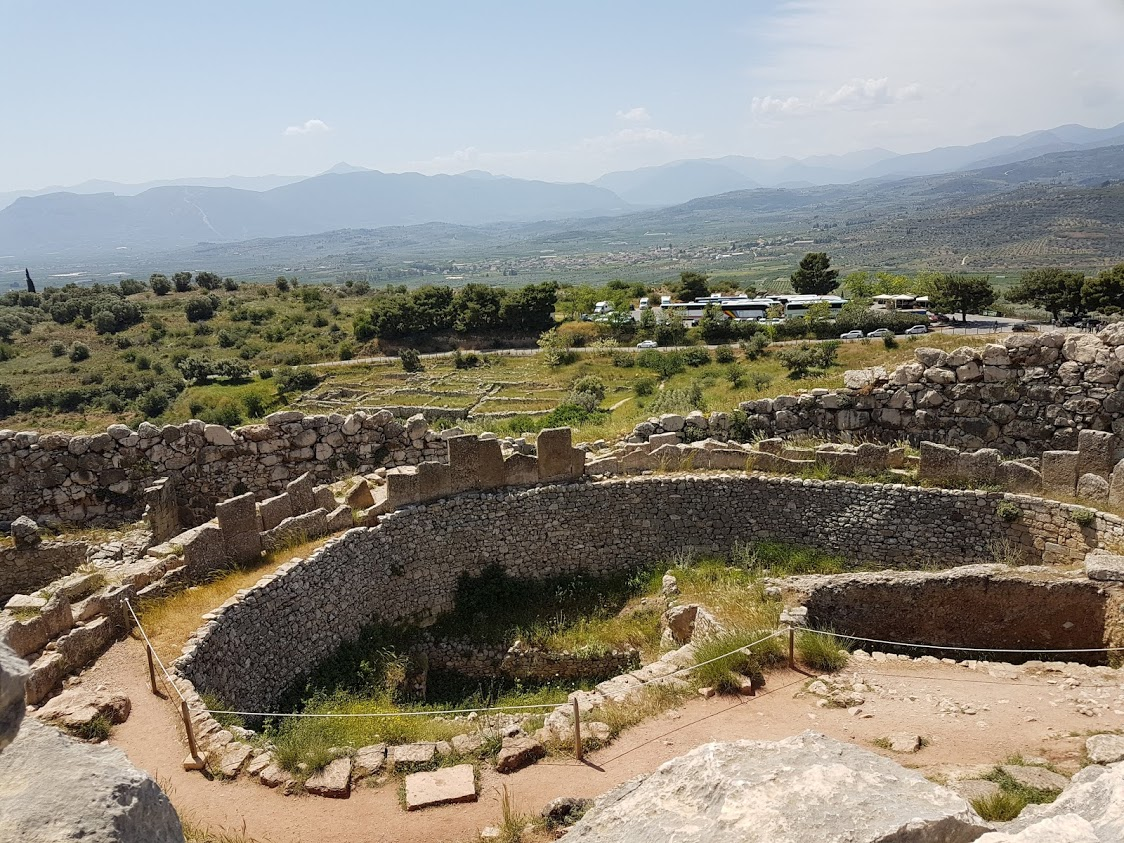 The inside of Mycenae UNESCO site
