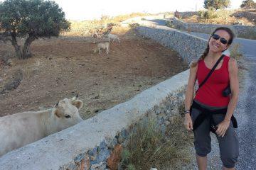 Vanessa in Schinoussa island in greece