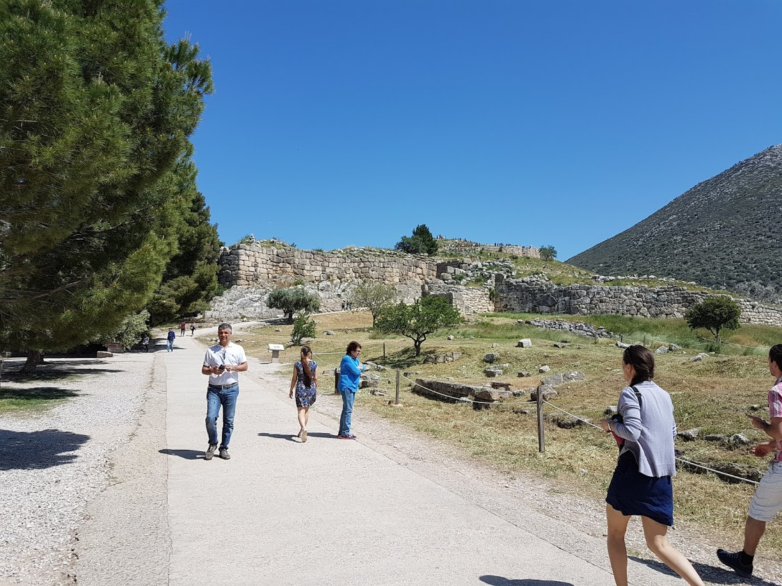 Walking toward Mycenae in Greece