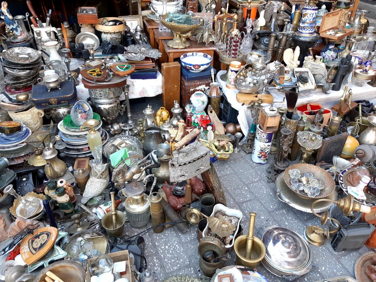Monastiraki flea market Athens Greece