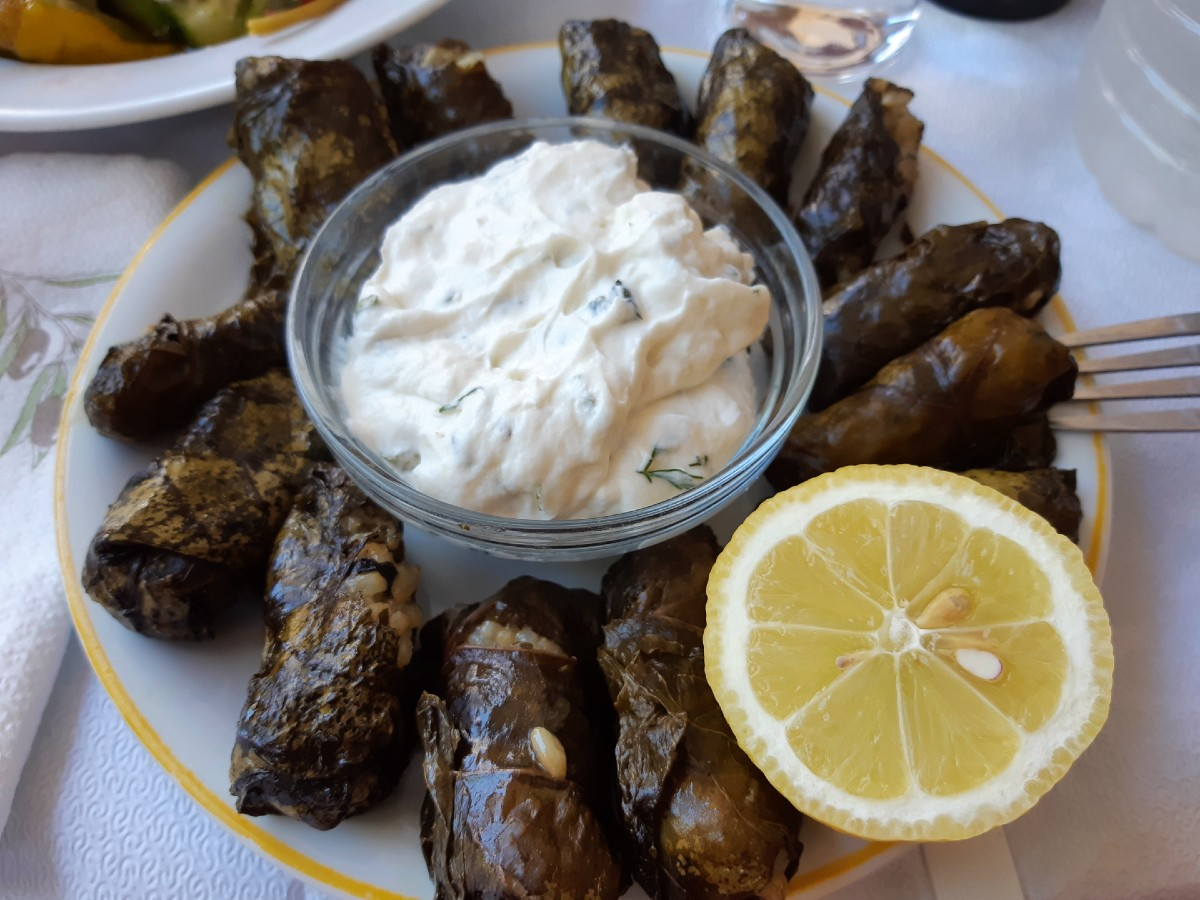Greek stuffed vine leaves