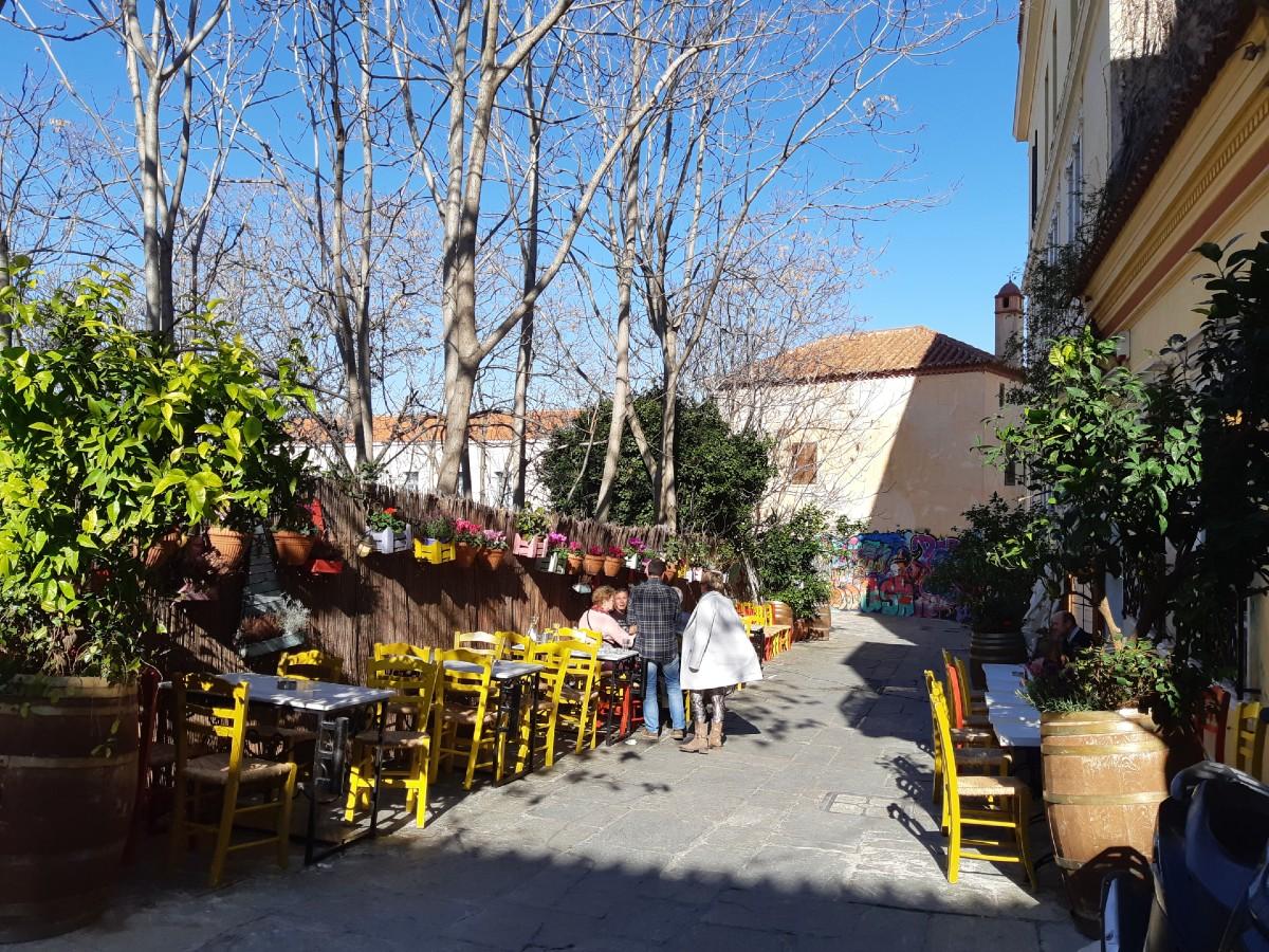 A taverna in Plaka Athens