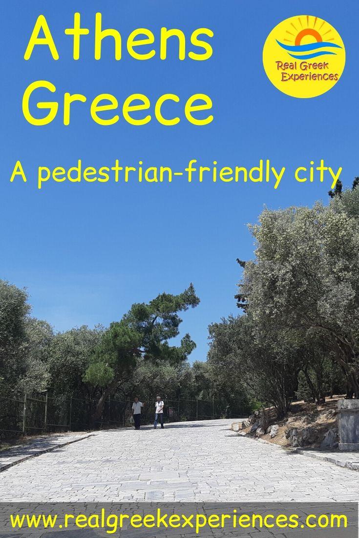 Athens Greece, a pedestrian-friendly city
