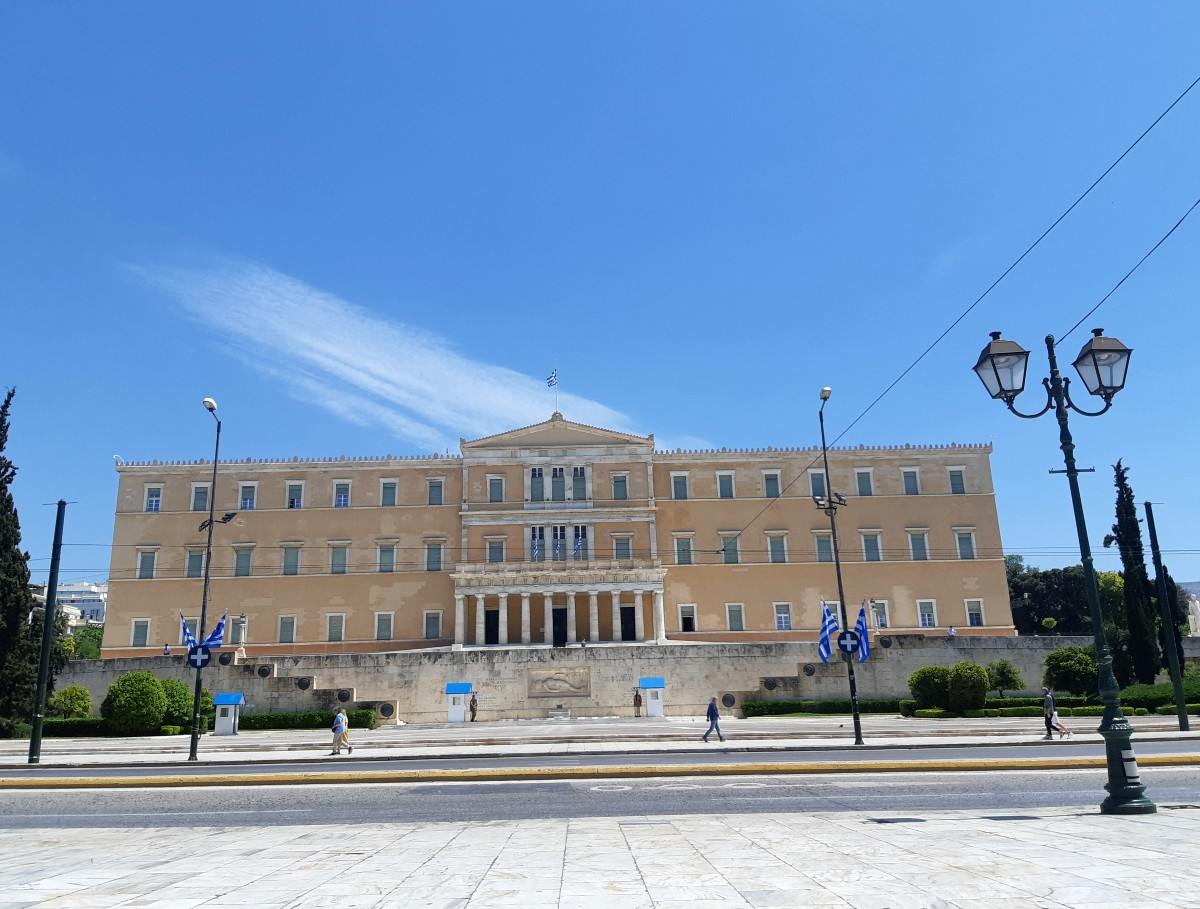 The Parliament House in central Athens