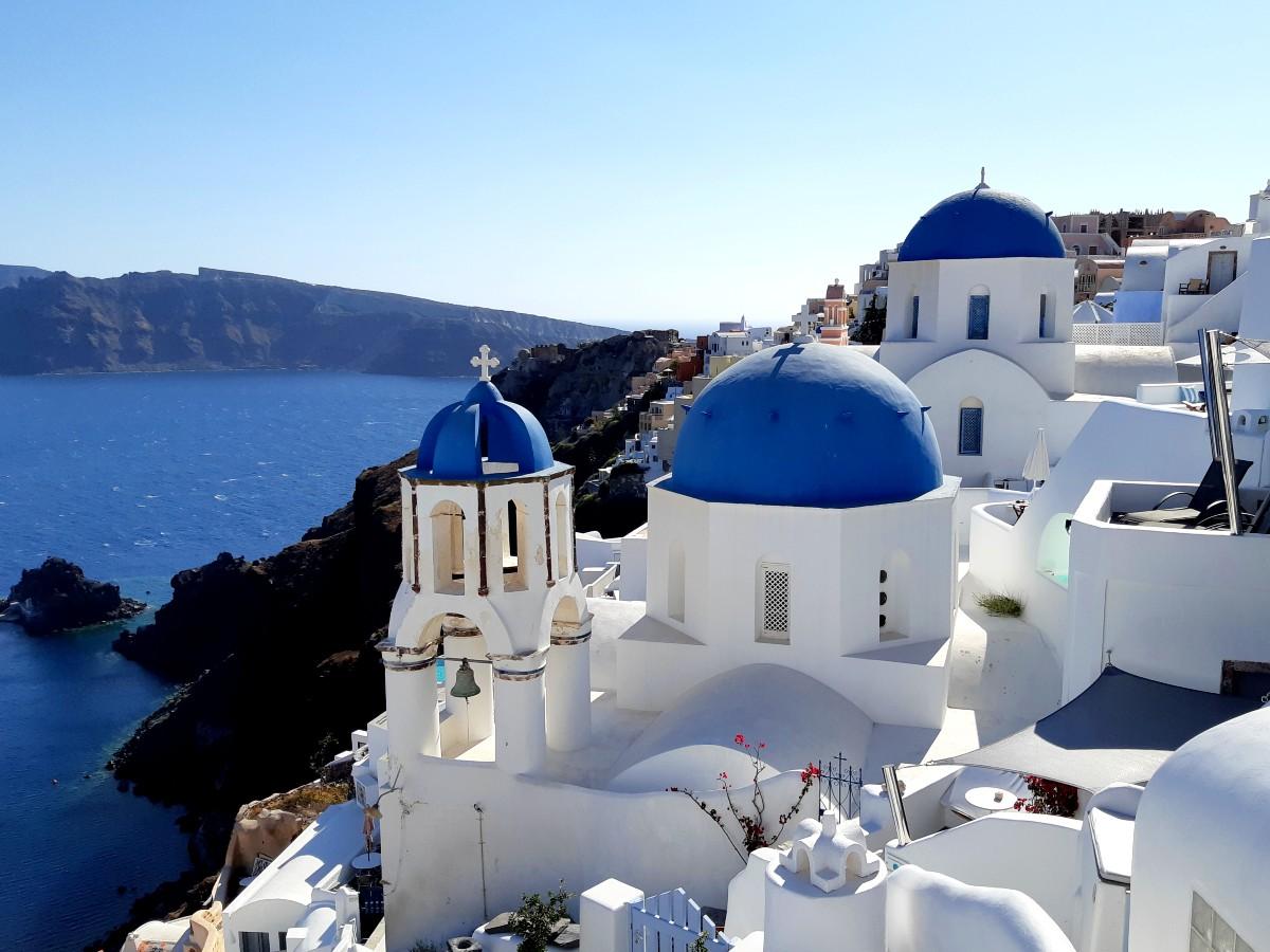 Churches in Oia Santorini