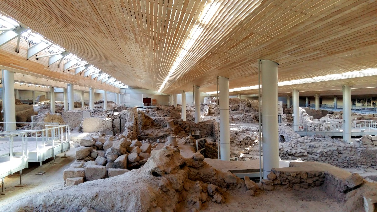Visit the archaeological site of Akrotiri