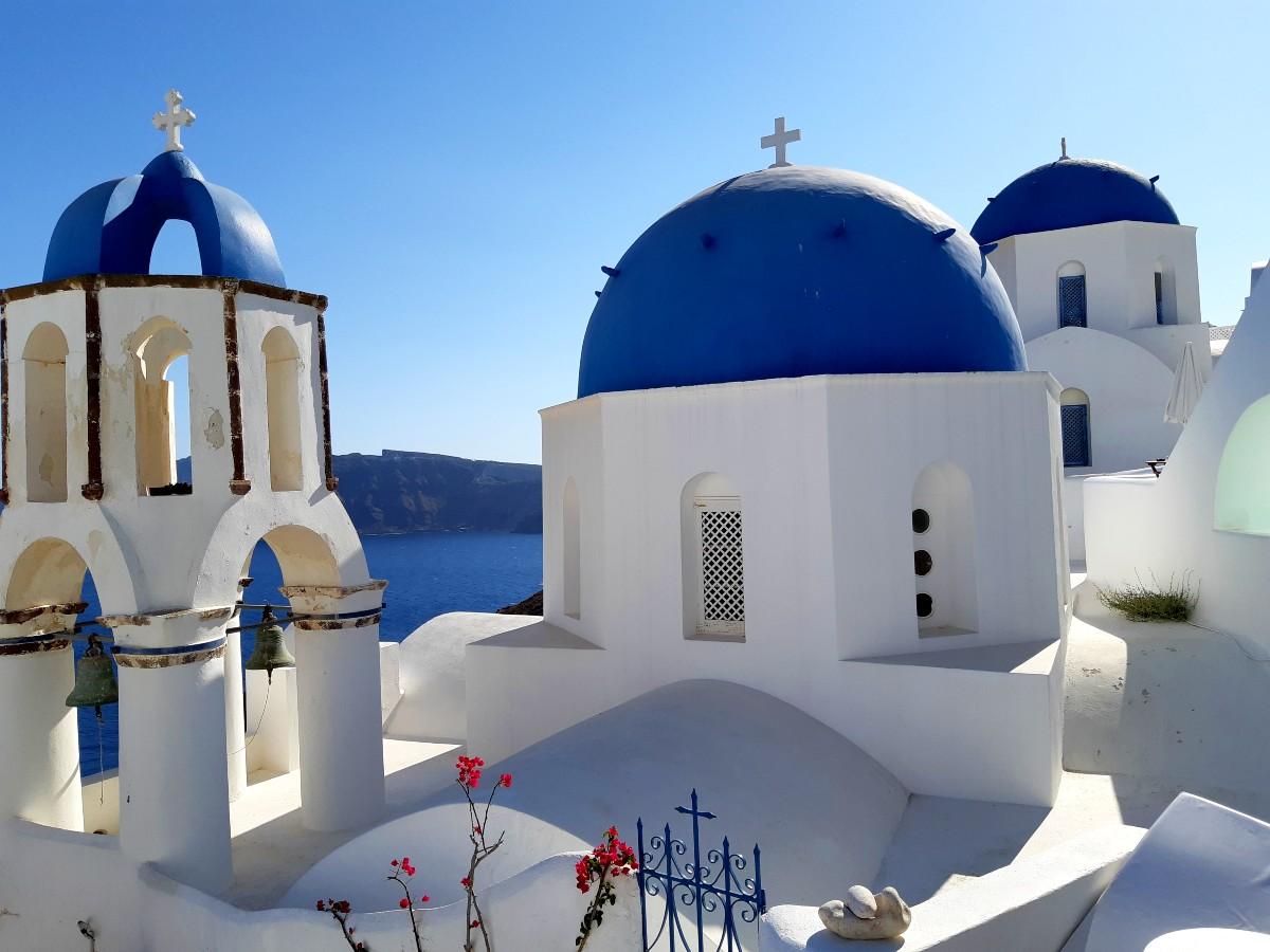 A church in Santorini