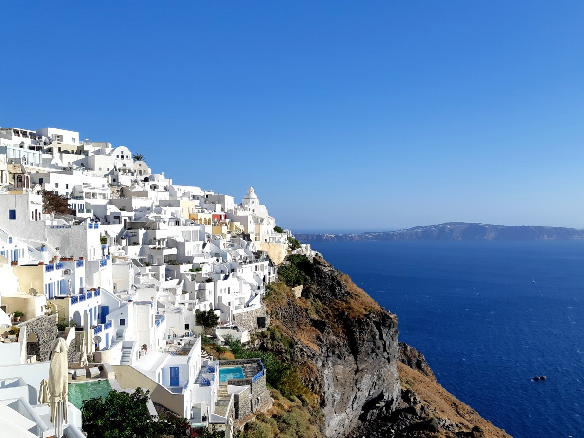 A view of Fira in Santorini