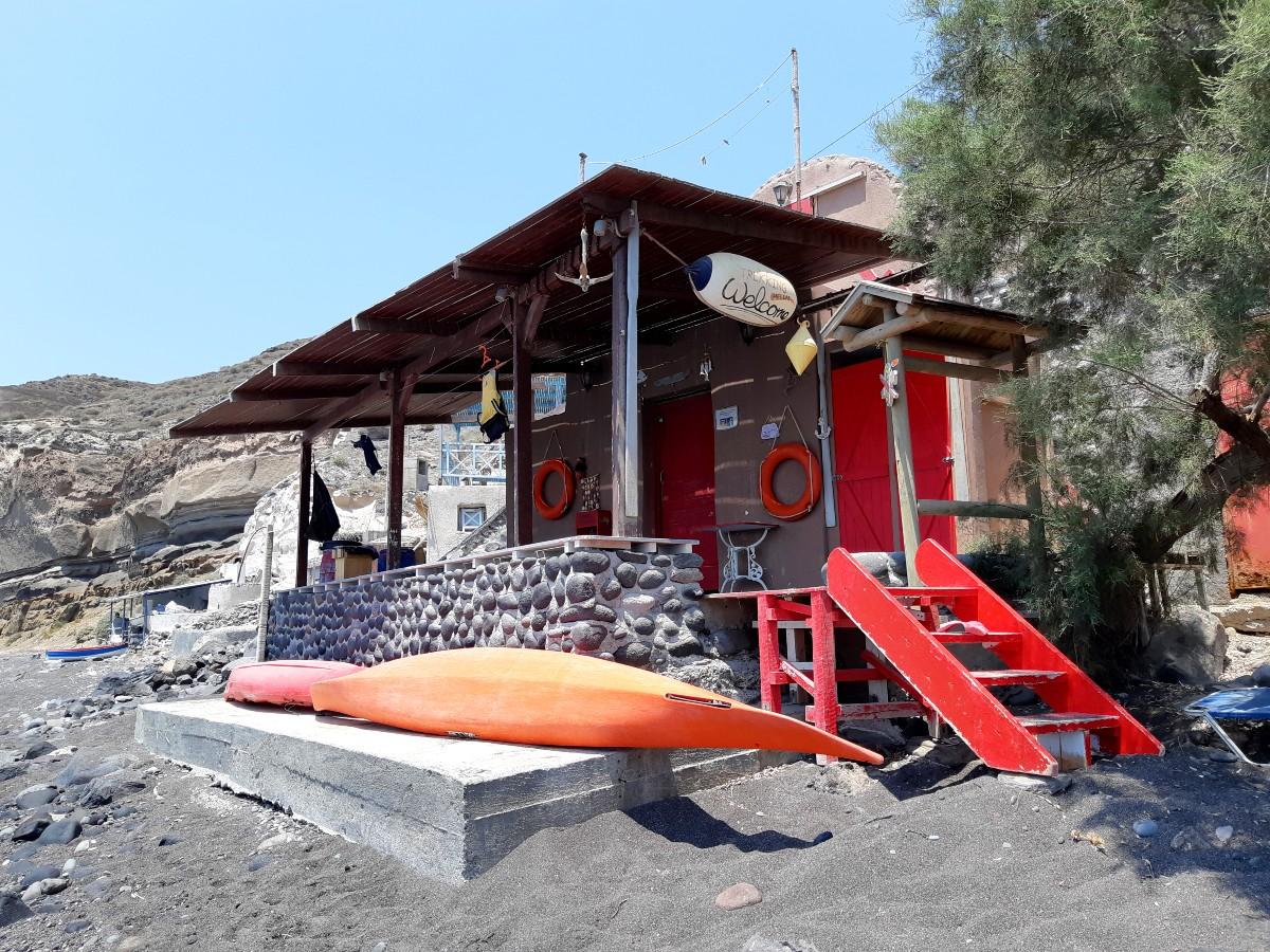 See Santorini on a kayak