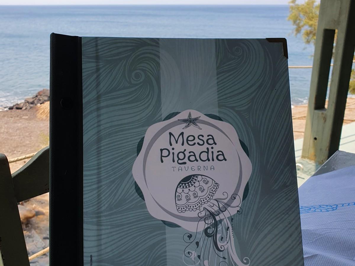Taverna in Mesa Pigadia Santorini