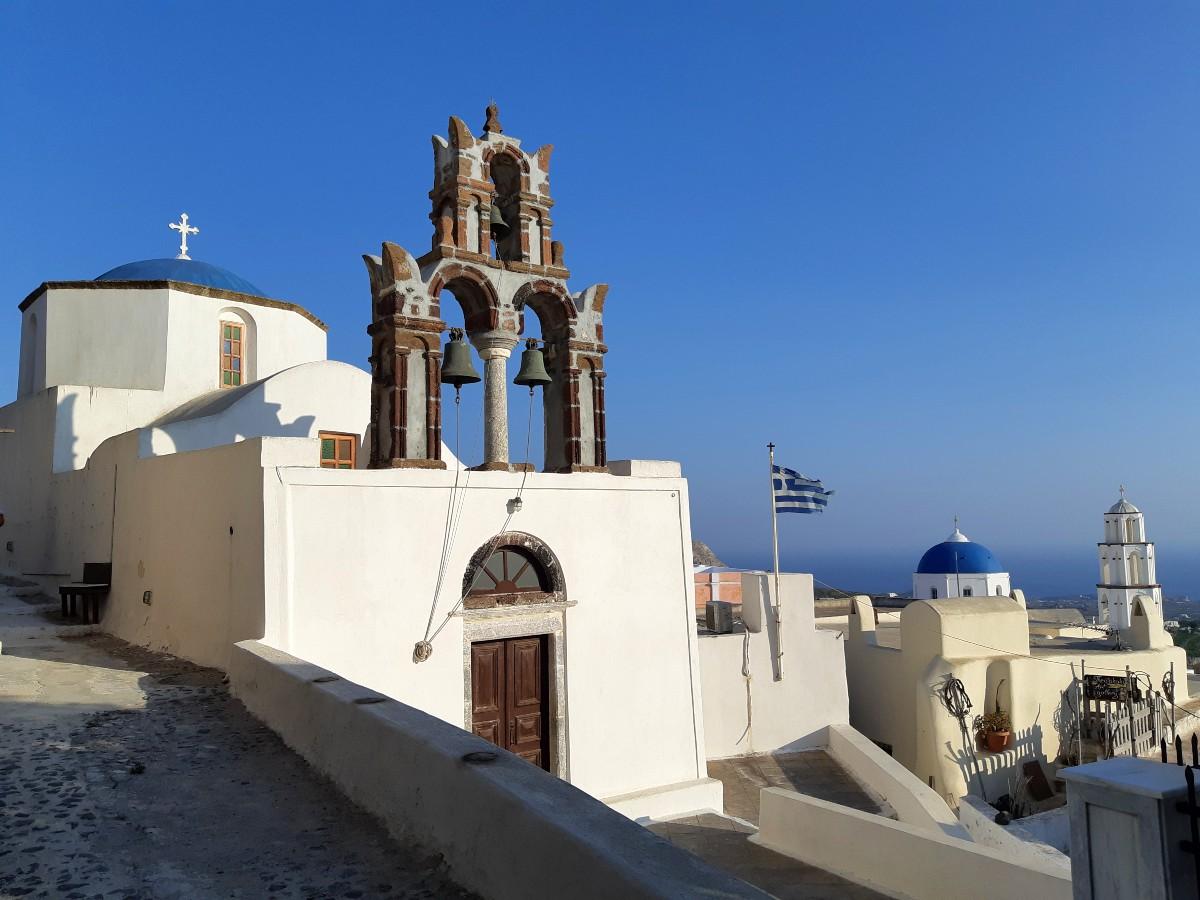 A church in Pyrgos Kallistis Santorini