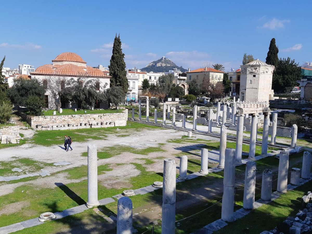 A view of the Roman Agora in Athens