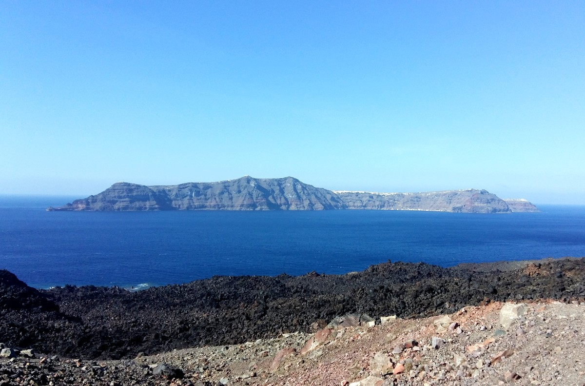 Santorini's world famous volcano