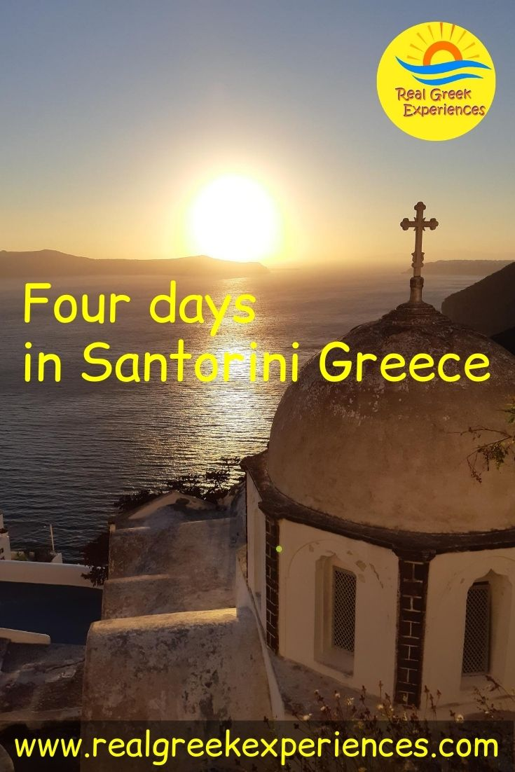 Four days in Santorini Greece what to do