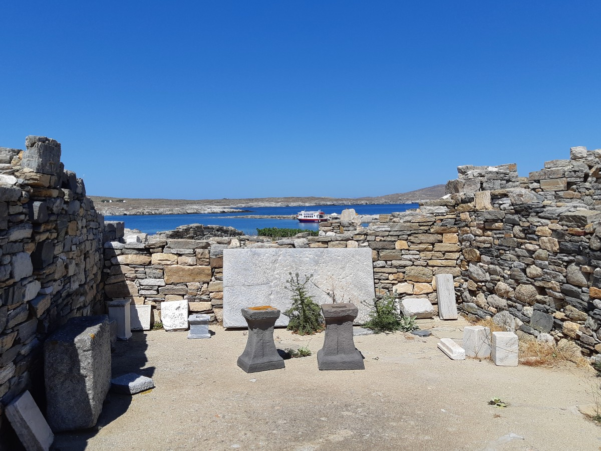 The archaeological site of Ancient Delos
