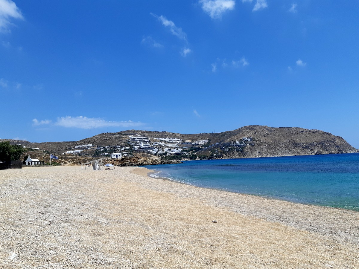 Stunning Agrari beach in Mykonos Greece