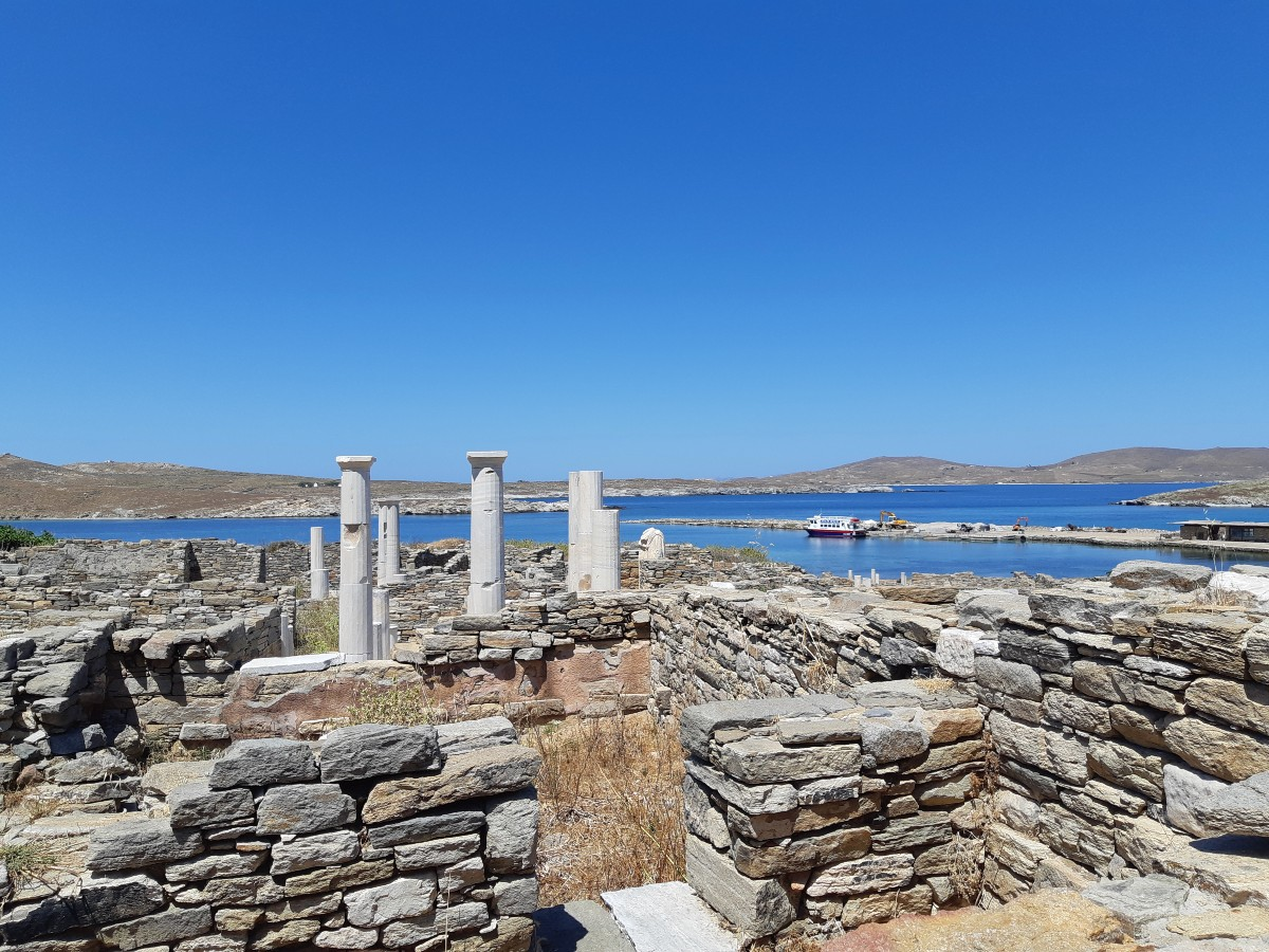Delos and Rhenia island in Greece