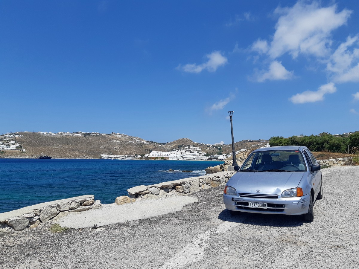Car in Mykonos Greece