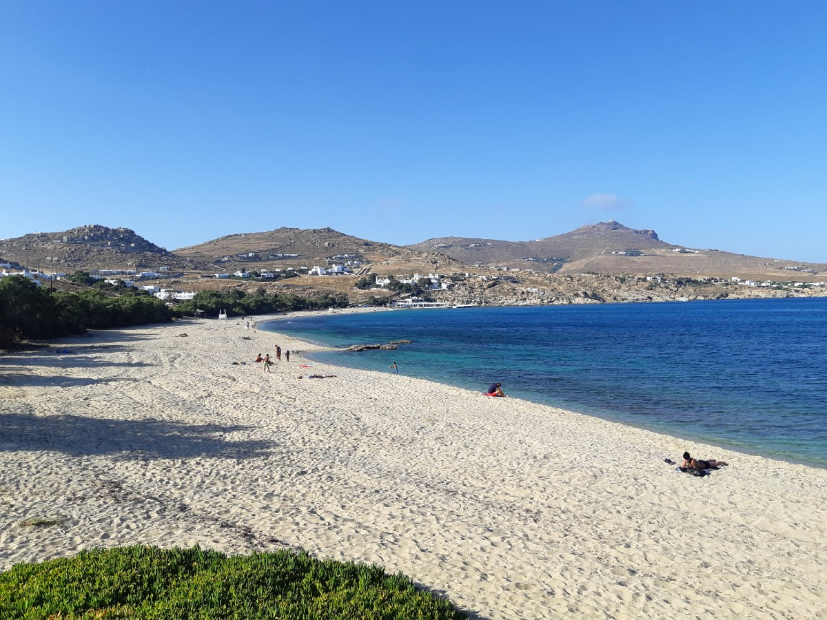 Mykonos Greece Kalafatis beach