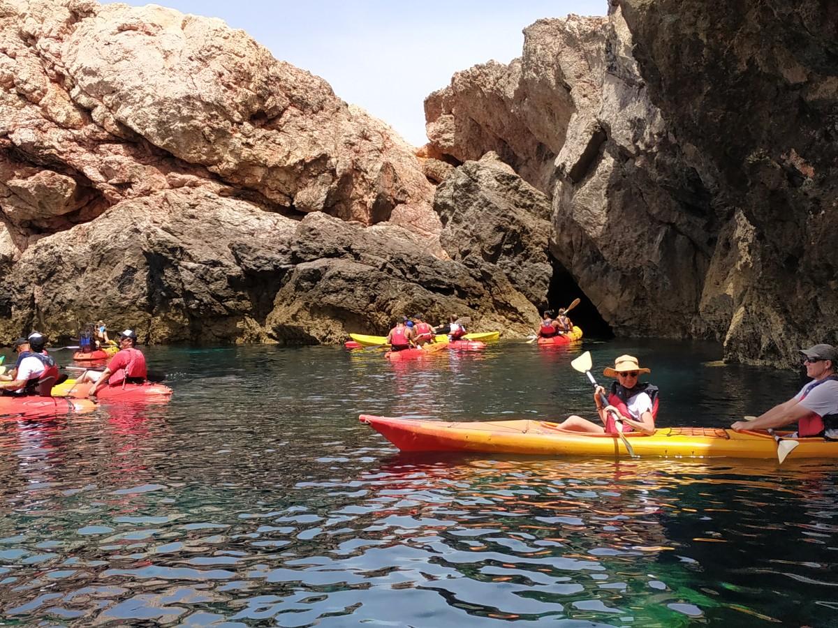 Discover Mykonos on a kayak