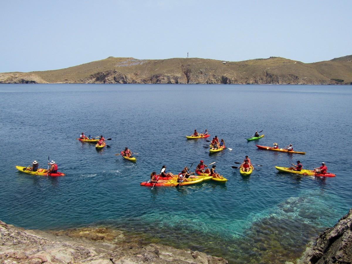 Fun kayak Mykonos trip