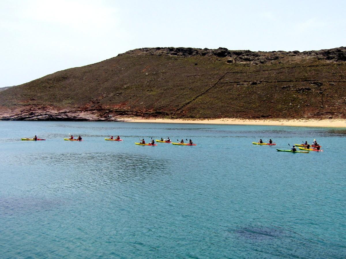 Kayaking trip in Mykonos