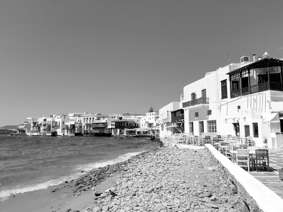 Little Venice in Mykonos Greece