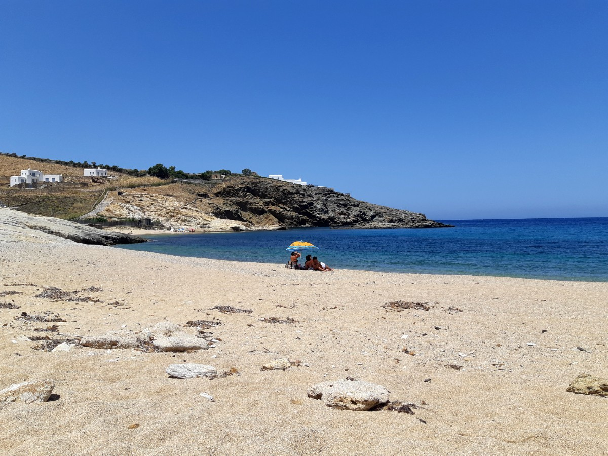 Mersini beach in Mykonos Greece
