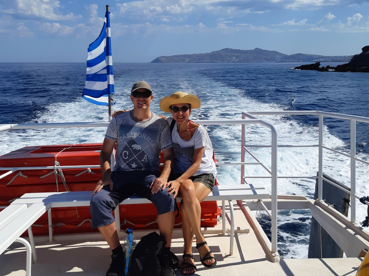 Day trip from Mykonos to Delos island Greece