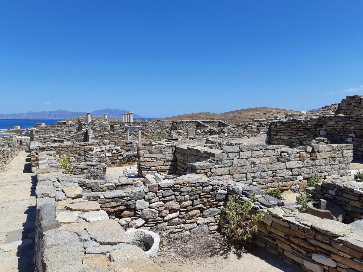 Walls in Delos Greece