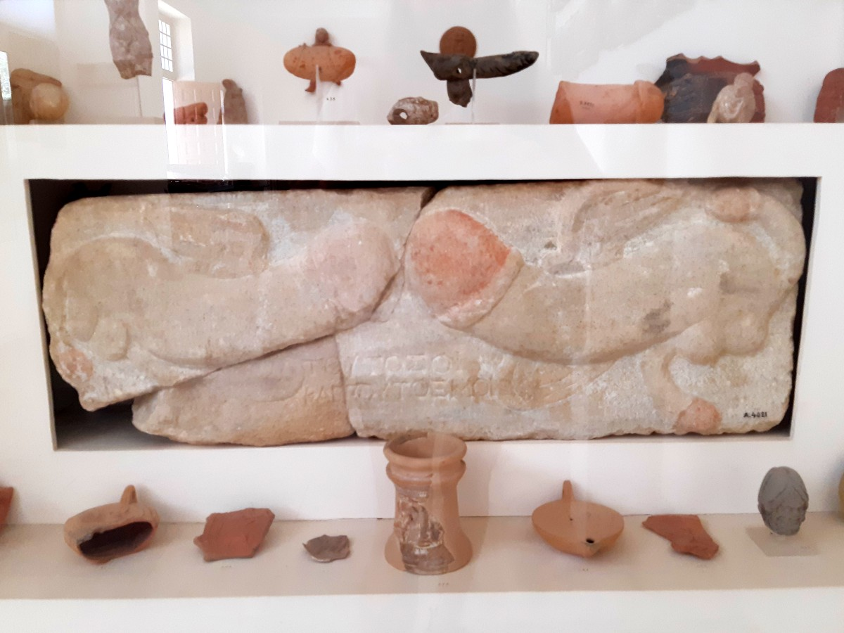 A phallic symbol in the museum of Ancient Delos