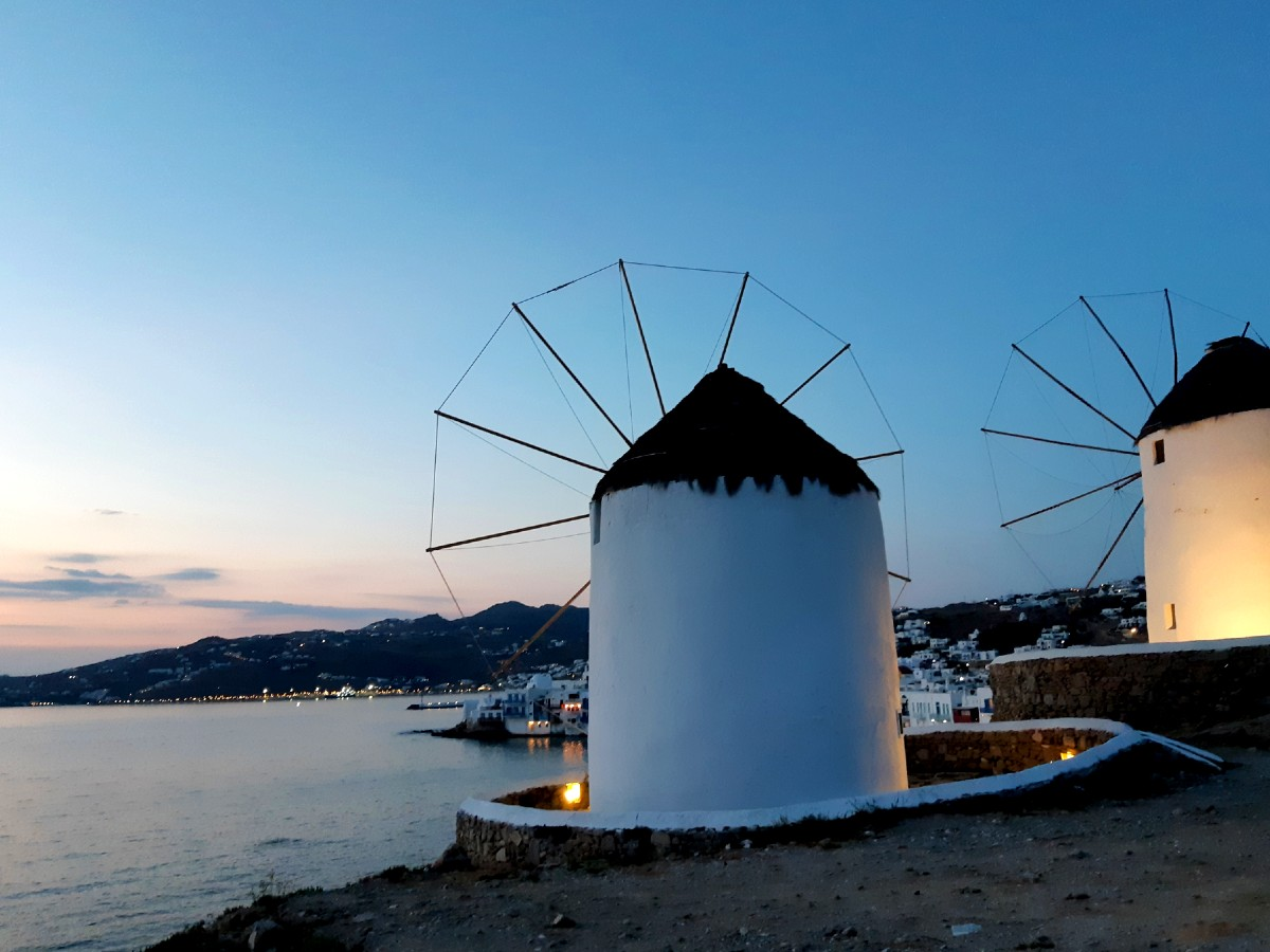 Sunset in Mykonos Greece