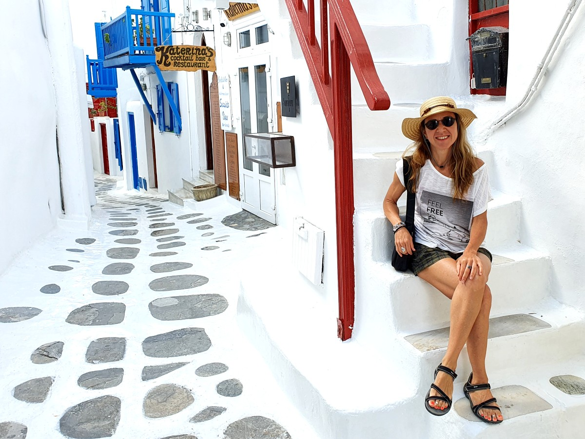 On the streets in Chora Mykonos without the crowds