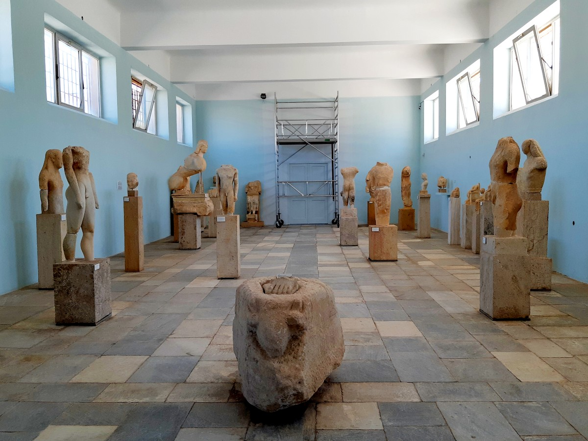 Inside the museum in Ancient Delos