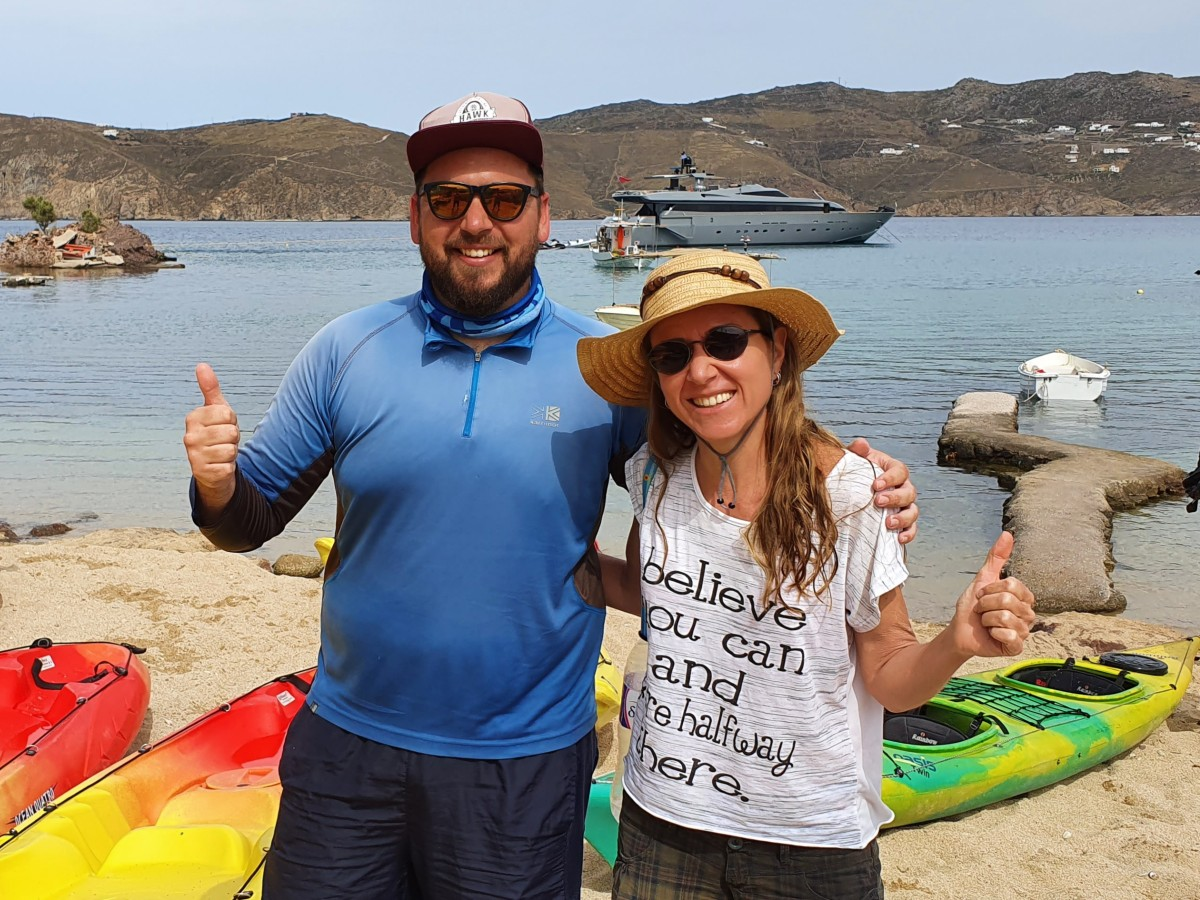 Mykonos Kayak an amazing experience