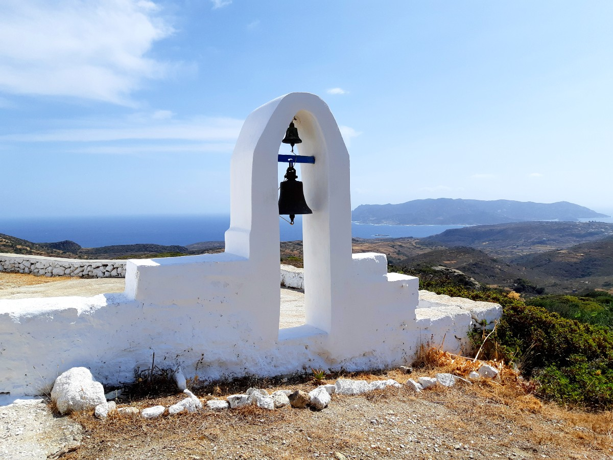 Church on the mountain in Kimolos