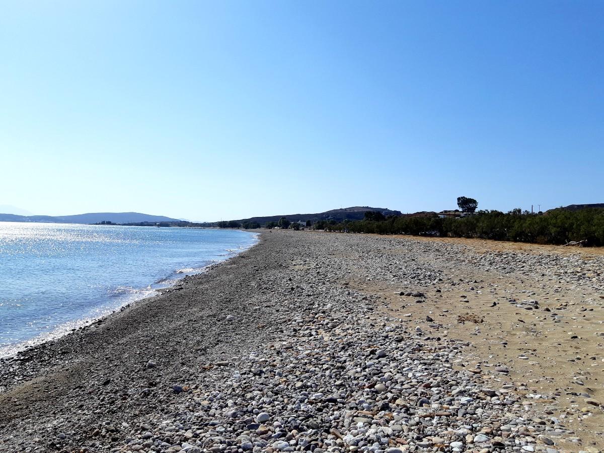 The unspoilt Aliki beach in Kimolos Greece
