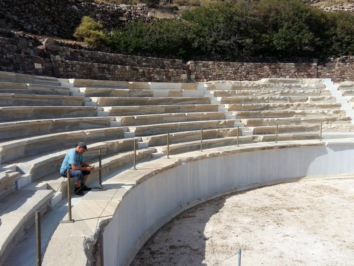 Visit the Ancient Theatre of Milos, Greece