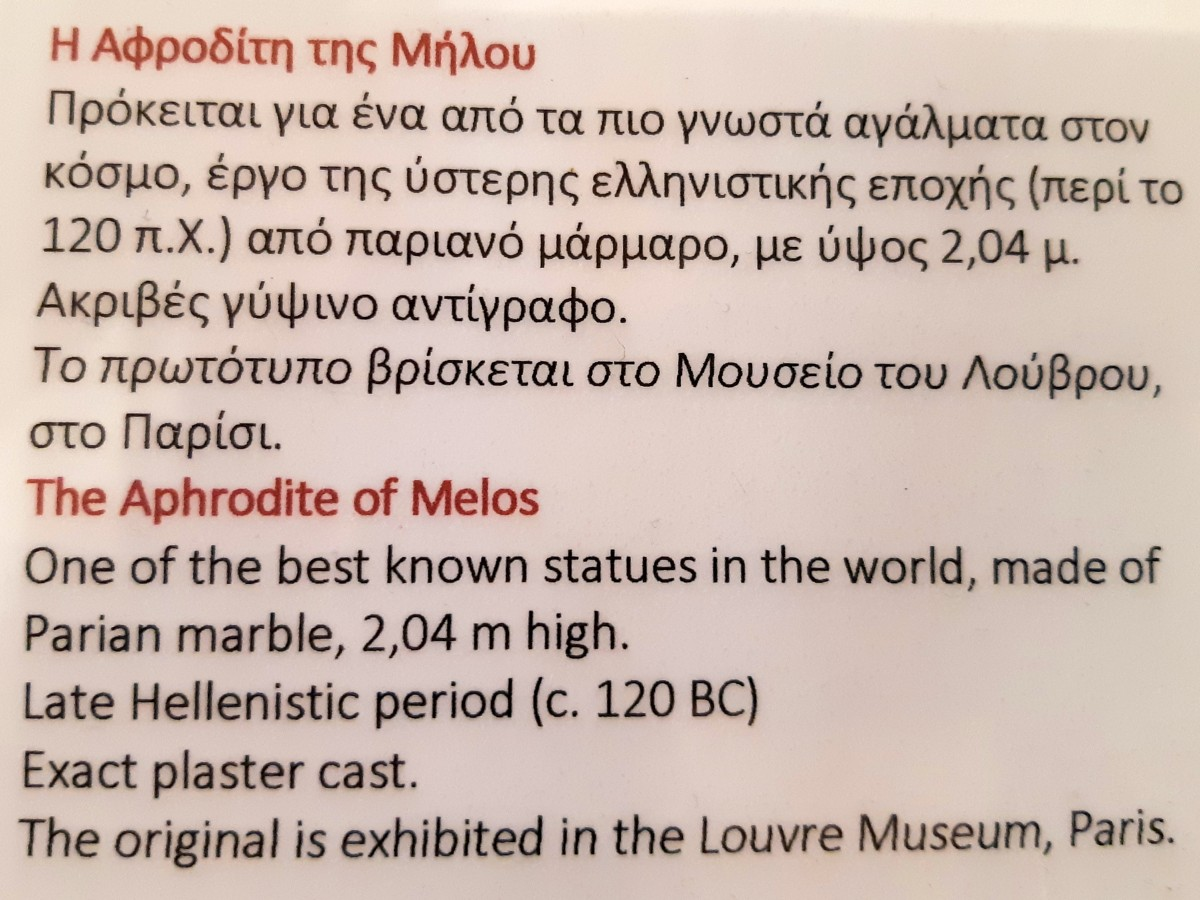 The original Aphrodite of Milos statue is in the Louvre