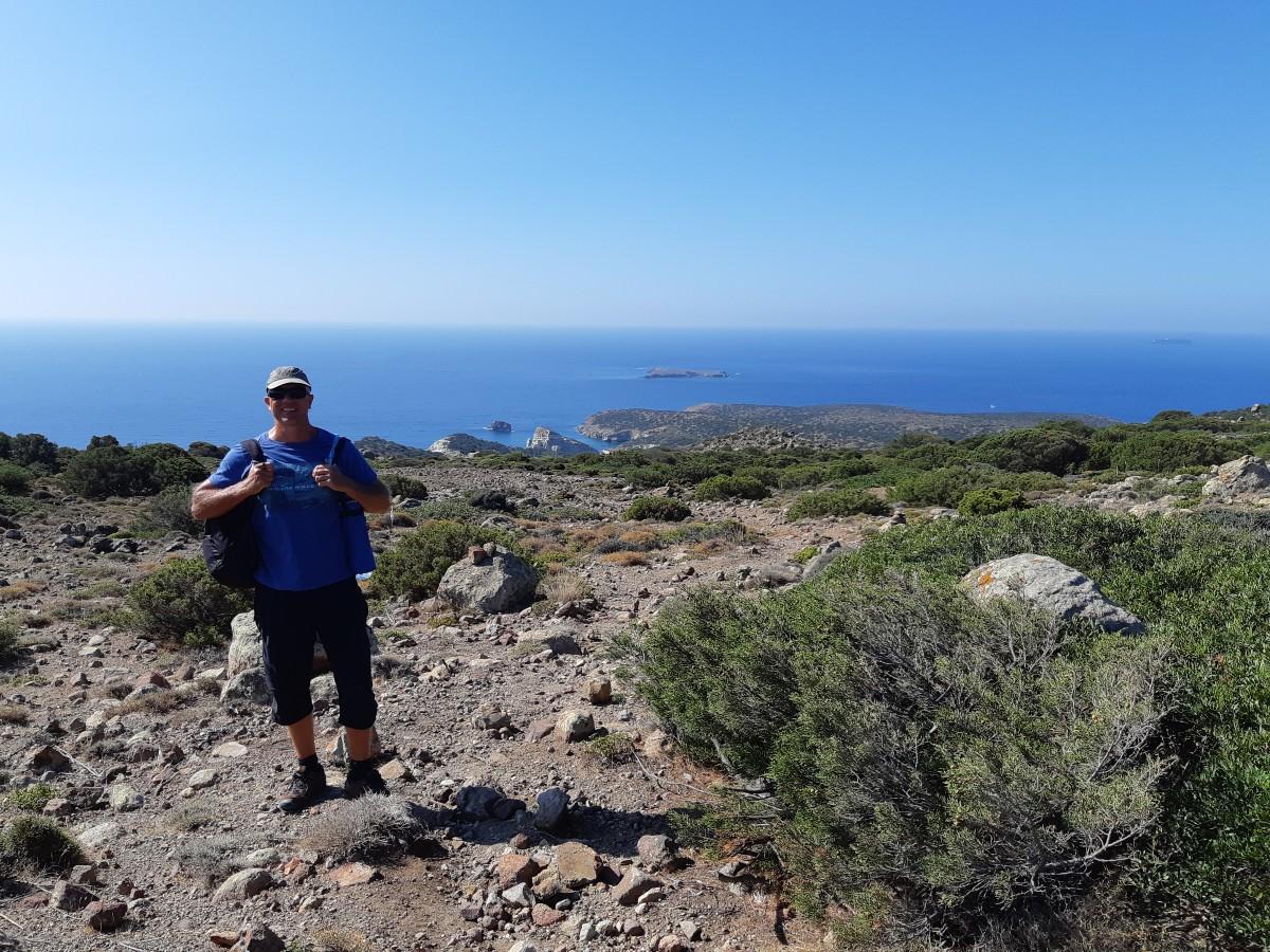 Dave hiking to Kleftiko Greece