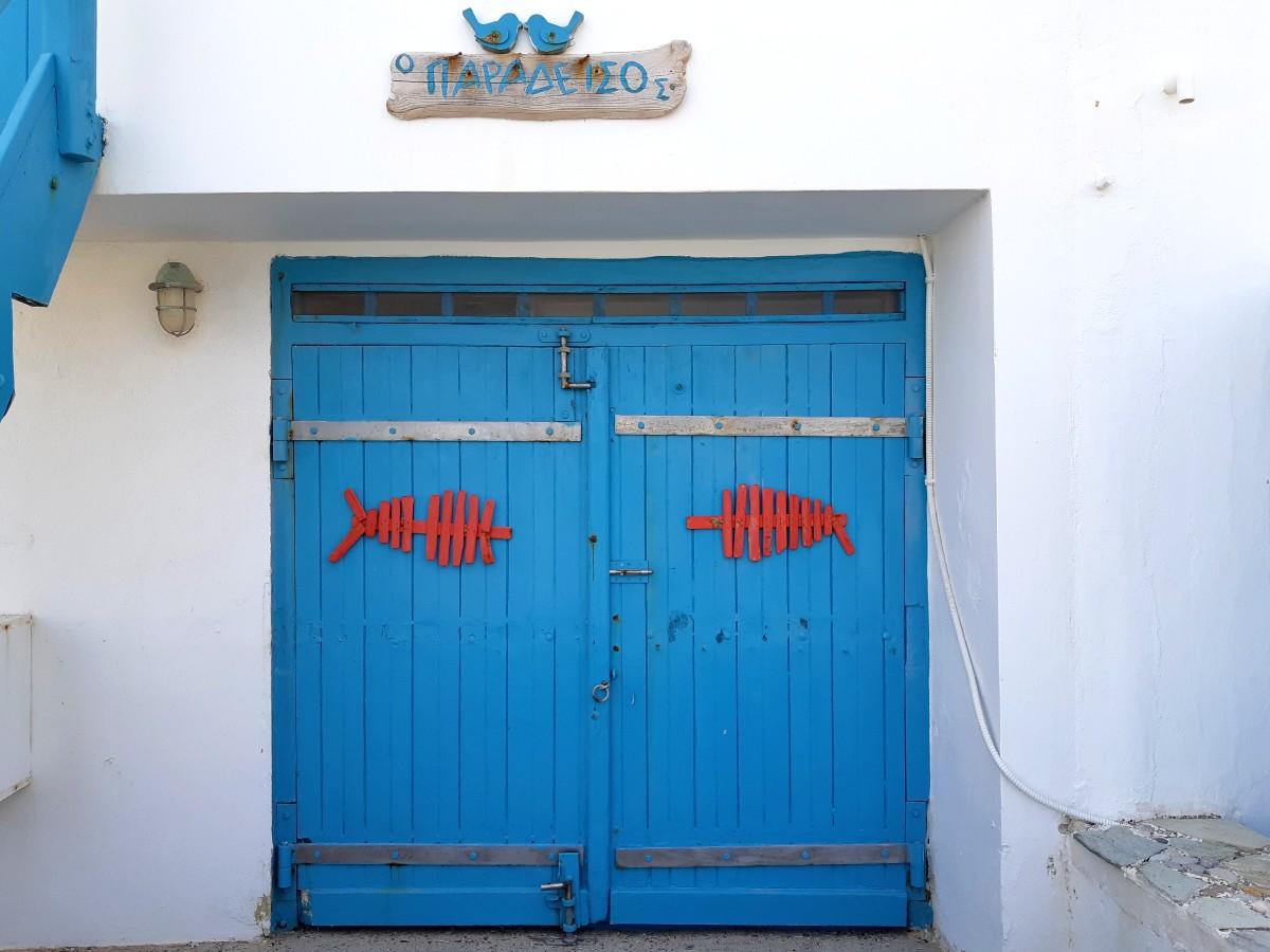 Colourful fishermen's houses in Milos Greece