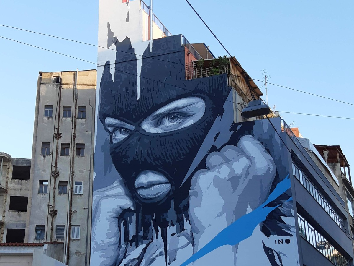 Street art in Athens Greece
